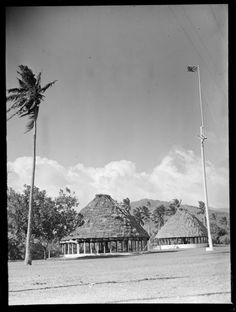 Samoan parliament buildings and grounds with the English flag flying, Apia, Western Samoa. Whites Aviation Ltd :Photographs. Ref: WA-01099-G. Alexander Turnbull Library, Wellington, New Zealand. http://natlib.govt.nz/records/30648298