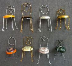 Champagne dollhouse chairs - cute!