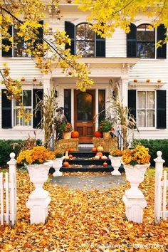 dream homes, autumn, front porch, curb appeal, fall decorations, fall porches, fall home, dream houses, entrance