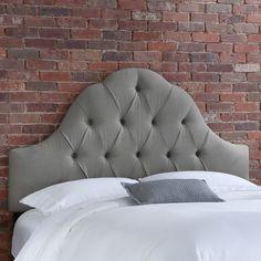 linen headboard, grey headboard, tuft linen, headboards, arch tuft, tuft headboard, grey tuft, bedroom, tuft grey