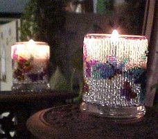 Beaded Butterfly on White Candle Holder Pattern and Kit. (Click on the picture to see this item on our website). $17.95
