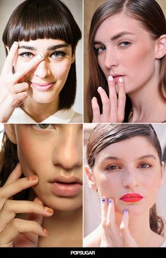 All the best linear nail art from #NYFW Spring 2015!