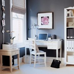 Home Office ideas - love the paint for Trey's