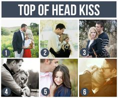 101 Tips and Ideas for Couples Photography - Engagement Photography  (one of my favorites...the top of the head kiss)