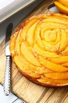 Orange- Mango Upside Down Cake