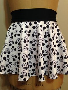 MOUSE MADNESS - Black & White! Super Cool Costume Running Skirt!  Perfect for your upcoming Disney race or fun themed race!