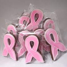 Chocolate pink ribbon cookies! Definitely a must for a pink ribbon bake sale! Full recipe located at www.scrumdiddlyumptiousblog.wordpress.com