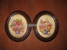 Pair of GLENN F. BASTIAN original 1941 oil paintings in Antique oval wood frames  Oil on board (card). signed & dated 1941 the paintings are: 9 & 3/4 inches height x 7 & 7/8 inches width (thus fitting inside the 8 x 10 frame sets with a little space to spare). http://www.ebay.com/itm/221316075017 MORE ITEMS FROM STELLA: http://www.ebay.com/sch/m.html?_nkw=&_armrs=1&_from=&_ipg=&_ssn=stellaragrose&_sop=16