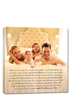 This is such a cute idea for a family portrait! Such a beautiful piece to display in your home. Also makes for a sweet grandparent gift too! Canvas art by Geezees