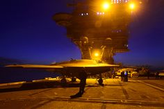 X-47B unmanned aircraft testing on flight deck of USS Theodore Roosevelt (CVN 71). Aircraft of the future!
