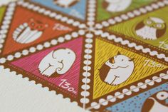 galleries, owl stamp, behance, zoo budapest, stamps, zoos, owls