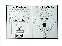 Fun idea for students to create a silly face or other picture using symmetry and congruent shapes.
