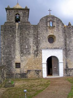 La Bahia Presidio Chapel, Goliad, Texas. Here the Texian prisoners were held prior to being massacred by the Mexican Army under Santa Anna's orders.