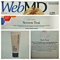 Protect your skin, rain or shine! The dermatologists at WebMD recommend TimeWise® Age-Fighting Moisturizer Sunscreen Broad Spectrum SPF 30* to help your skin stay protected from the sun daily.  wwww.marykay.com/cberberich