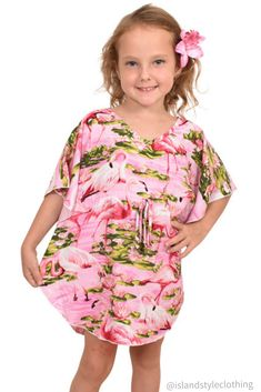 Super Cute Girls Turquoise Flamingo Kaftan - Poncho dress beach Cover. Gorgeous and sweet little girls overswim. More exact matching items for Mommy, Daddy & siblings.  #matchymatchy #mommyandme #mommyandme #girlsbeachcoverup #hawaiianpartydress #flamingoprints #flamingoparty #kaftan #poncho #girlskaftan #girlsponcho #luau #luauparty #beachcoverup