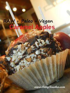 Raw Caramel Apples  #BettyRawker