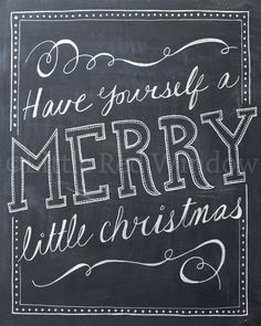 Have Yourself a Merry Little Christmas Printable Print  by LittleRedWindow on Etsy