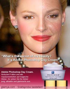 #Photoshop daycream : After/Before bodi imag, photoshop cream, woman fashion, adobe photoshop, magazines, katherine heigl, beauty, blog, people