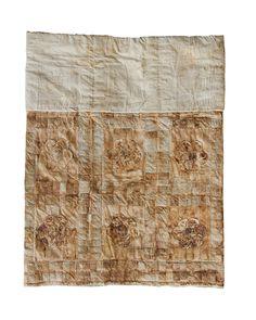 From Art Propelled Blog - Teabag quilt by Kim Schoenberger