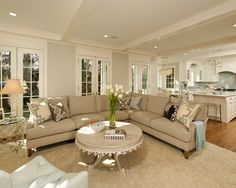 Living room...open plan. Love the kitchen looking into the living room!