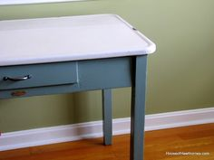 House of Hawthornes: Vintage Enamel Top Table - Part 2 (Or Mr. Chippy Gets A Makeover)