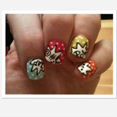classic comic manicure!