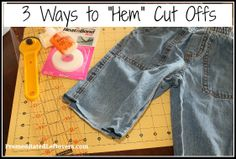 3 ways to hem denim cut offs and several uses for the scraps