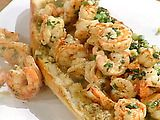 Shrimp Scampi P-Boy on Garlic bread