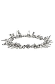 Silver or Gold Spike & Pave Beaded Bracelet | Renegade Cluster Bracelet | Stella & Dot