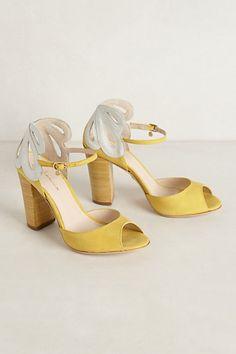 Lemon Daisy Heels #anthropologie