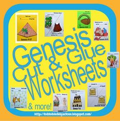 Genesis Lapbook & Cut & Glue Student Worksheets