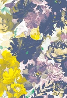 color palette   yellow, lavender and navy