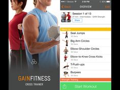 fitness plan, cross trainer, gain fit, fit coach, fit fab, fit app, fit crosstrain, coach app, phone app
