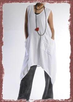 Oh My Gauze Cotton Brad Lagenlook Long Vest U chz Color