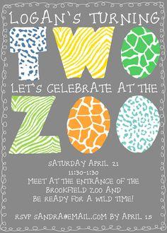 cute zoo birthday invite