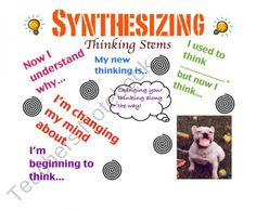 Synthesizing Poster! product from CraftyKelsey on TeachersNotebook.com