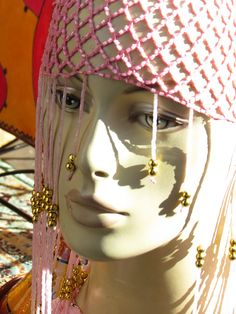 Moroccan Hat on a Mannequin Head