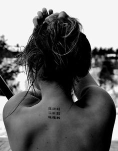 Date tattoo, like the placement