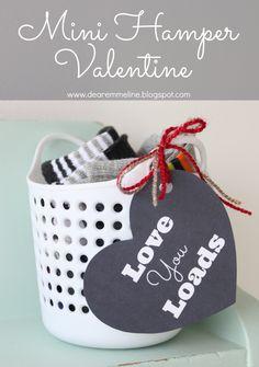 I love you loads Valentine idea. cute!