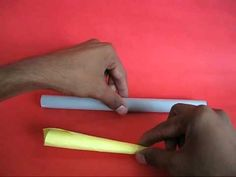 How to Make a Paper Rocket Projectile by Arvind Gupta #Paper_Rocket