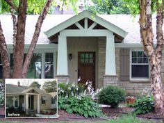 Front Porch Designs For Ranch Homes | Straightline Design, Inc. - Remodeling and Additions