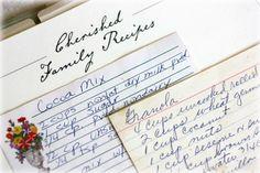 How to turn your family's treasured recipes into the perfect gift: http://beautyandbedlam.com/family-recipe-album/