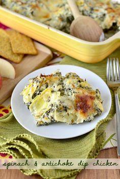 Spinach and Artichoke Dip Chicken