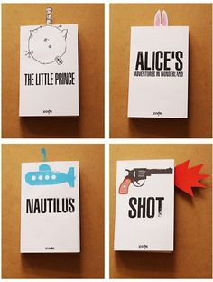 """An idea by Igor """"Rogix"""" Udushlivy who tought it would be great if we can use dust jackets and bookmarks"""