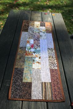 quilted table runner  Woodlands by btaylorquilts on Etsy, $78.00
