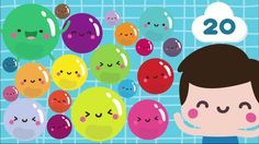 Practice counting to 20 with the Kiboomu Kids Song Video, Counting Bubbles!! #kidsongs   #preschool  #counting