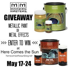 Here Comes the Sun is hosting a Modern Masters Giveaway!! Click into the link for your chance to win! Deadline: May 24th to enter.