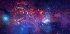 The galactic core, observed using infrared light and X-ray light. Credit: NASA, ESA, SSC, CXC, and STScI