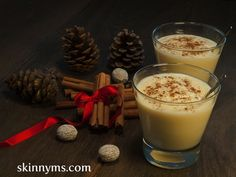 Here's a Creamy Holiday Eggnog you'll absolutely love!  #holiday #eggnog #recipe