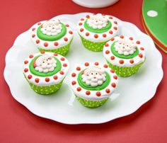yummy and lovely santa face christmas cupcakes.